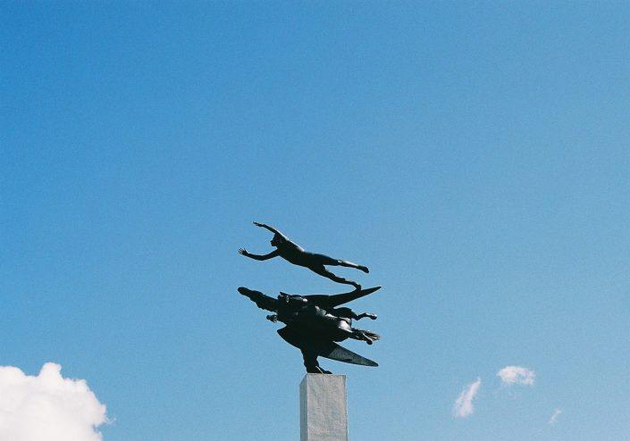 箱根彫刻の森美術館、カール・ミレス「人とペガサス」