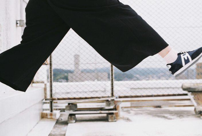 岡崎シビコ屋上でジャンプ
