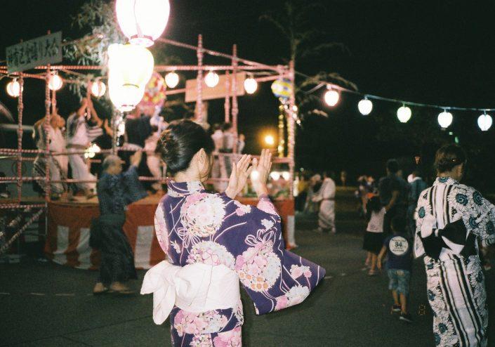 碧南市神有区民館の盆踊り