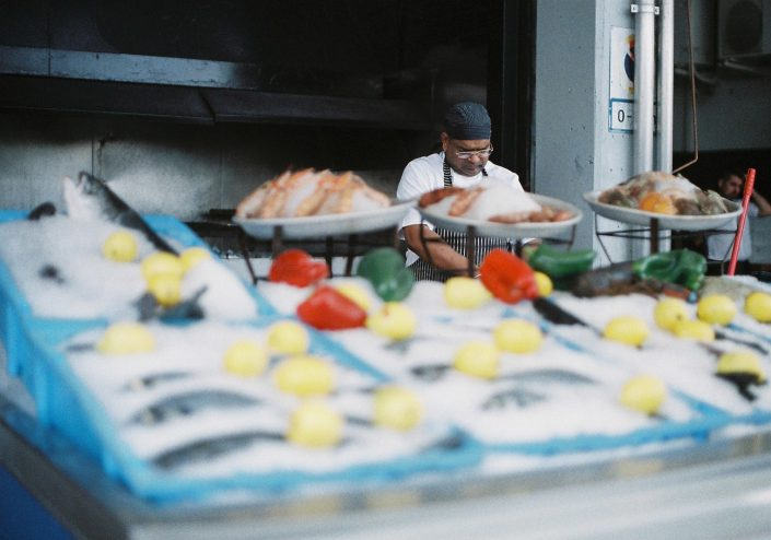 バルセロナの魚市場